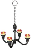 Black Lighted Chandelier