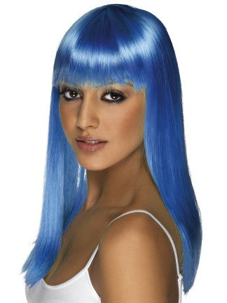 Blue Glamour Long Wig