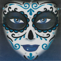 Day of the Dead Glitter Blue Tattoos
