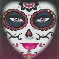 Day of the Dead Glitter Pink Tattoos