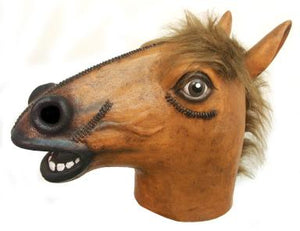 """Leather Look"" Antique Horse Mask"