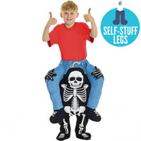 Kid's Morphsuit Piggyback Skeleton Costume
