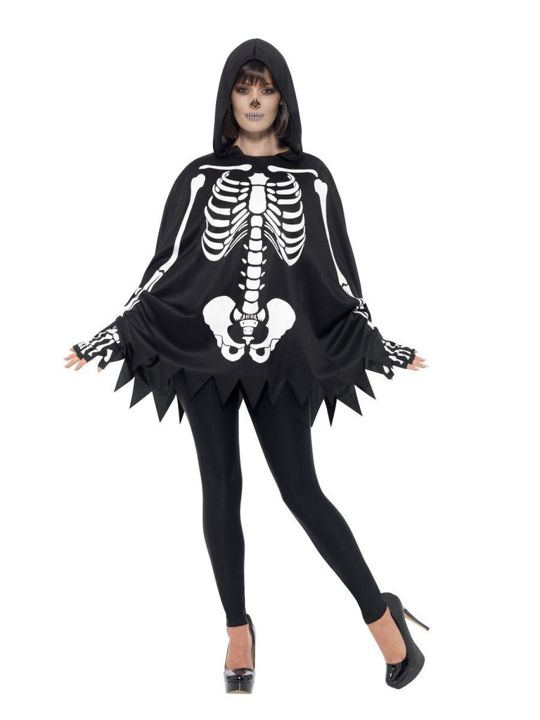 Adult Unisex Skeleton Poncho