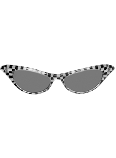 1950's Checkered Glasses