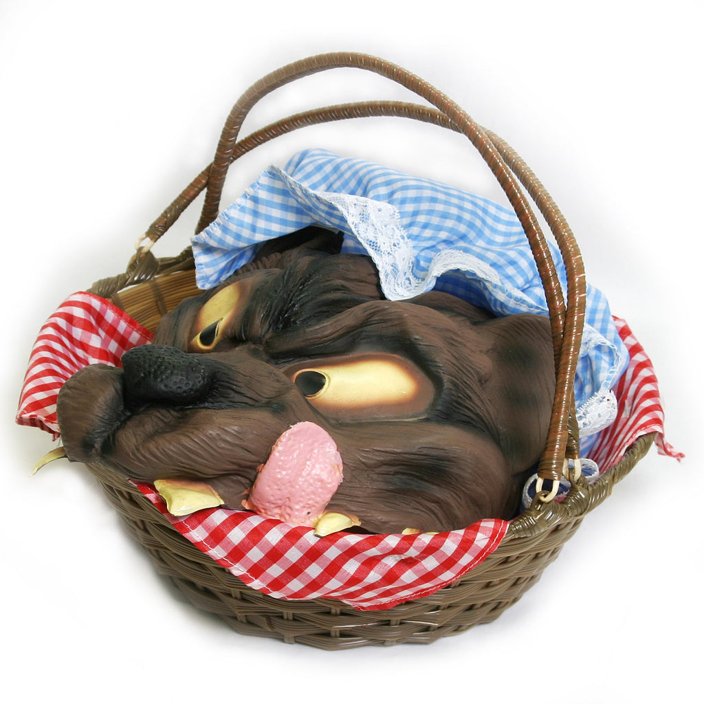 Basket with Wolf Head - Little Red Riding Hood