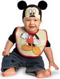 Infant Mickey Mouse Bib and Hat