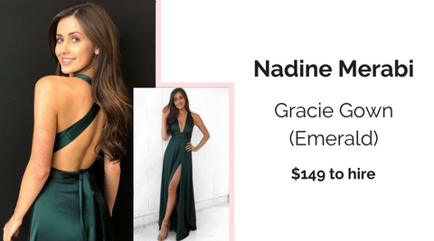 Nadine Merabi Gracie Gown Dress Hire North Sydney