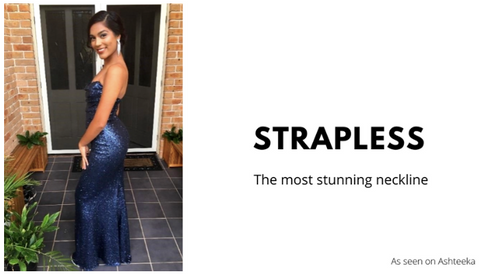 Hire strapless gowns