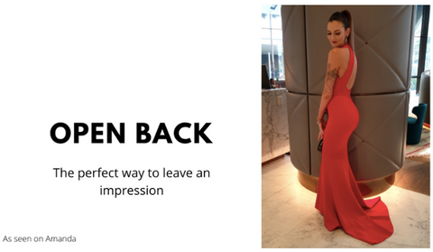 Hire backless dress