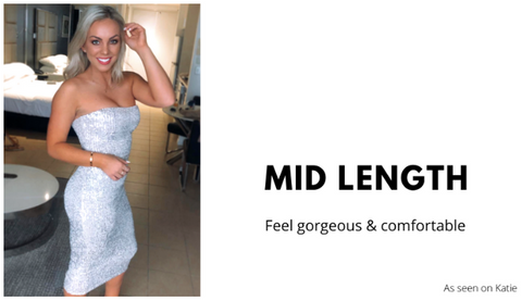 Hire mid length dress