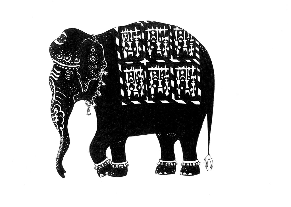 Kunst plakat // Limited edition art print // 'Indian Elephant'