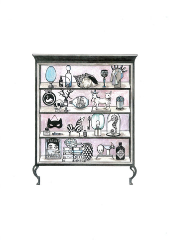 Kunst plakat // Art print // 'Cabinet of curiosities '
