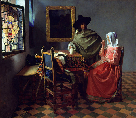 Painting of the wine glass by Vermeer