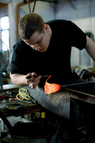 Glassblowing at jerpoint glass studio