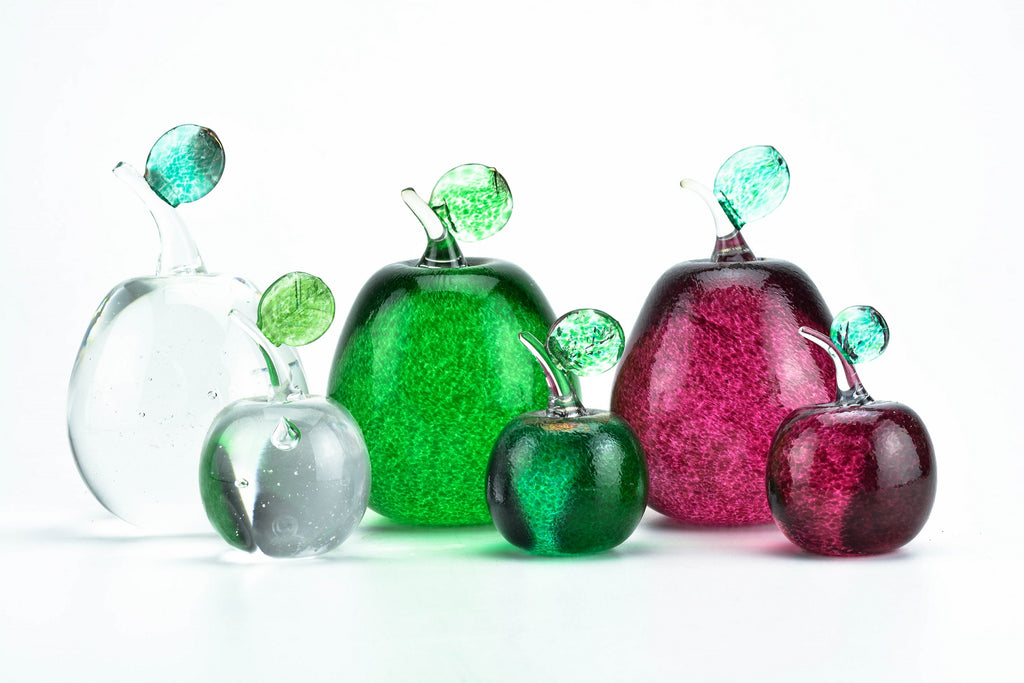 Blown Glass apple decorations