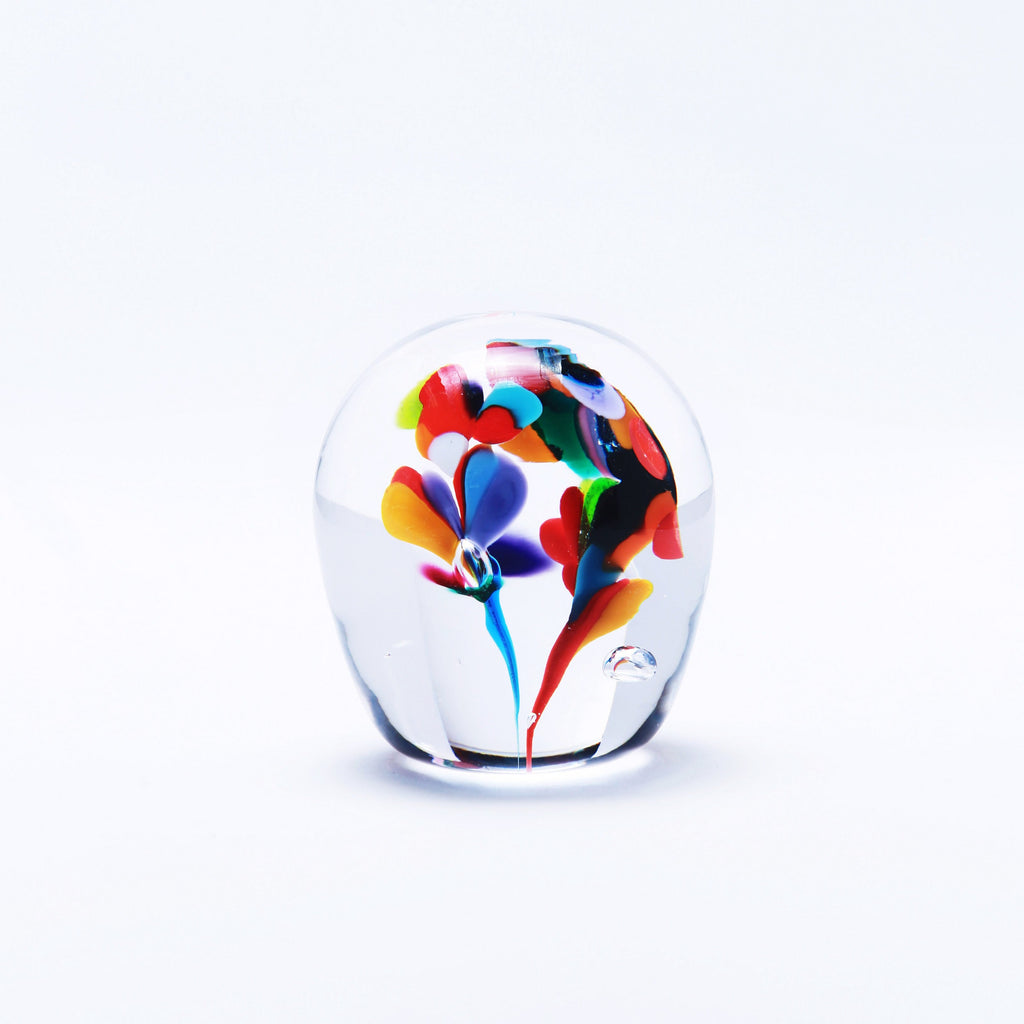 Orchid Paperweight - Jerpoint Glass
