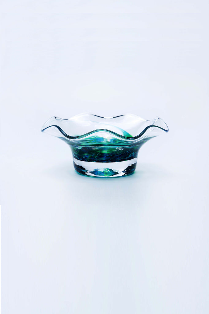 jerpoint glass scallop nut bowl seascape