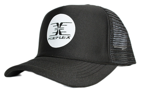 Black Mesh Trucker Cap