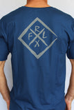 Diamond Tee Steel Blue