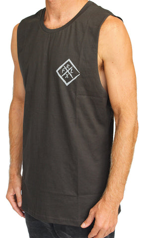 Diamond Muscle Tank Charcoal