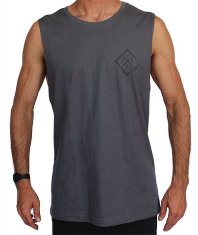 Diamond Muscle Tank Med Grey