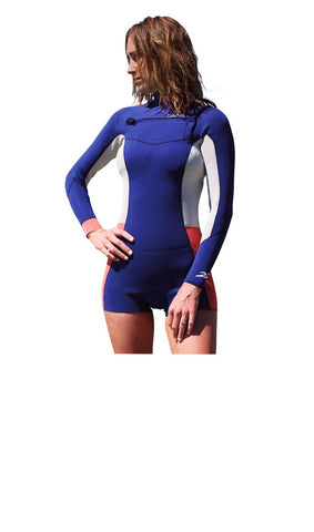 RIO – Ladies 2.2mm Long Sleeve Chest Zip Springy