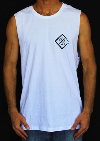 Diamond Muscle Tank White