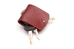Key case - Burgundy - Two Horns
