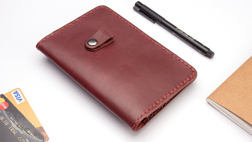 Memo Book Leather Case. - Two Horns