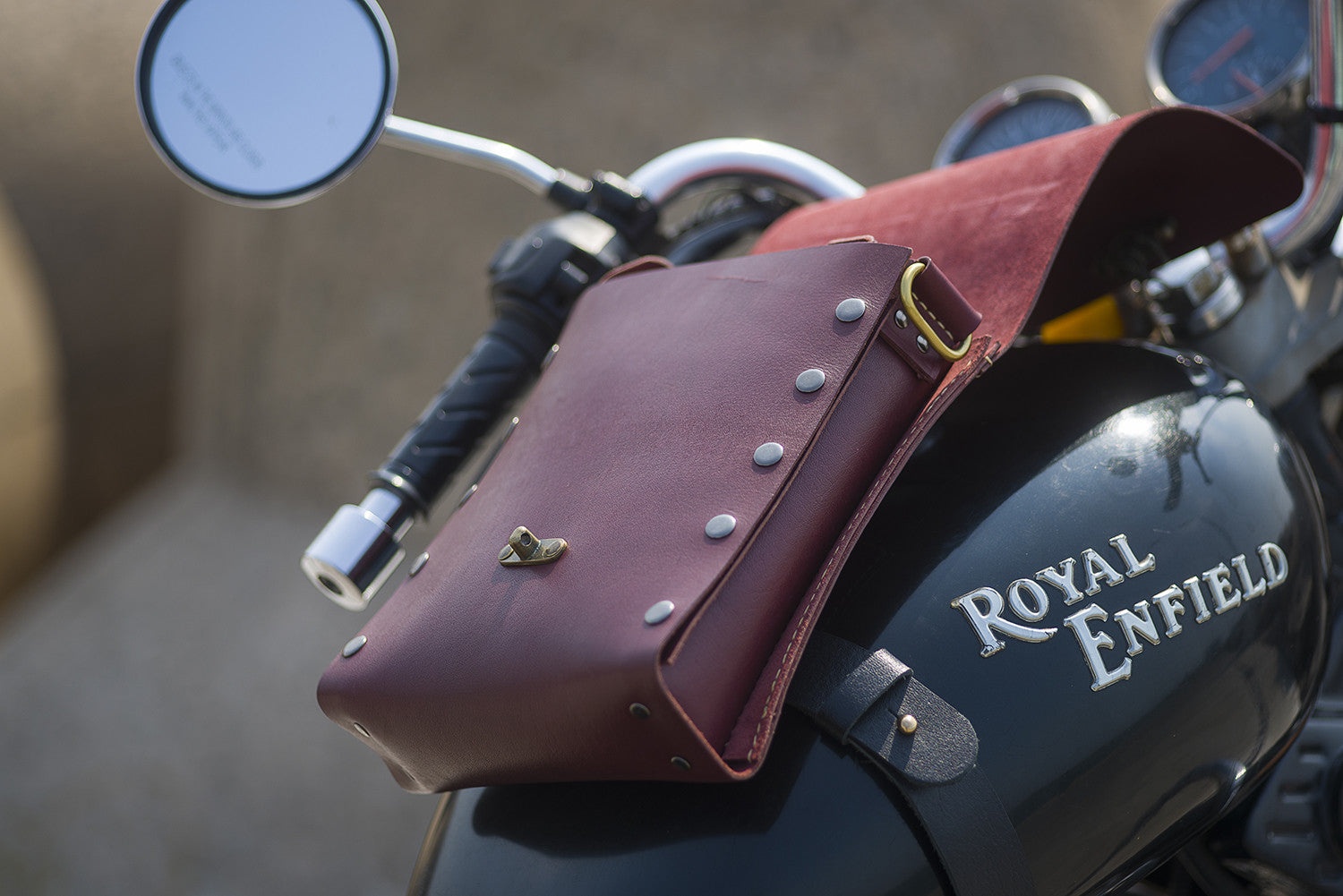 Biker - Tank Bag #BTL - Two Horns