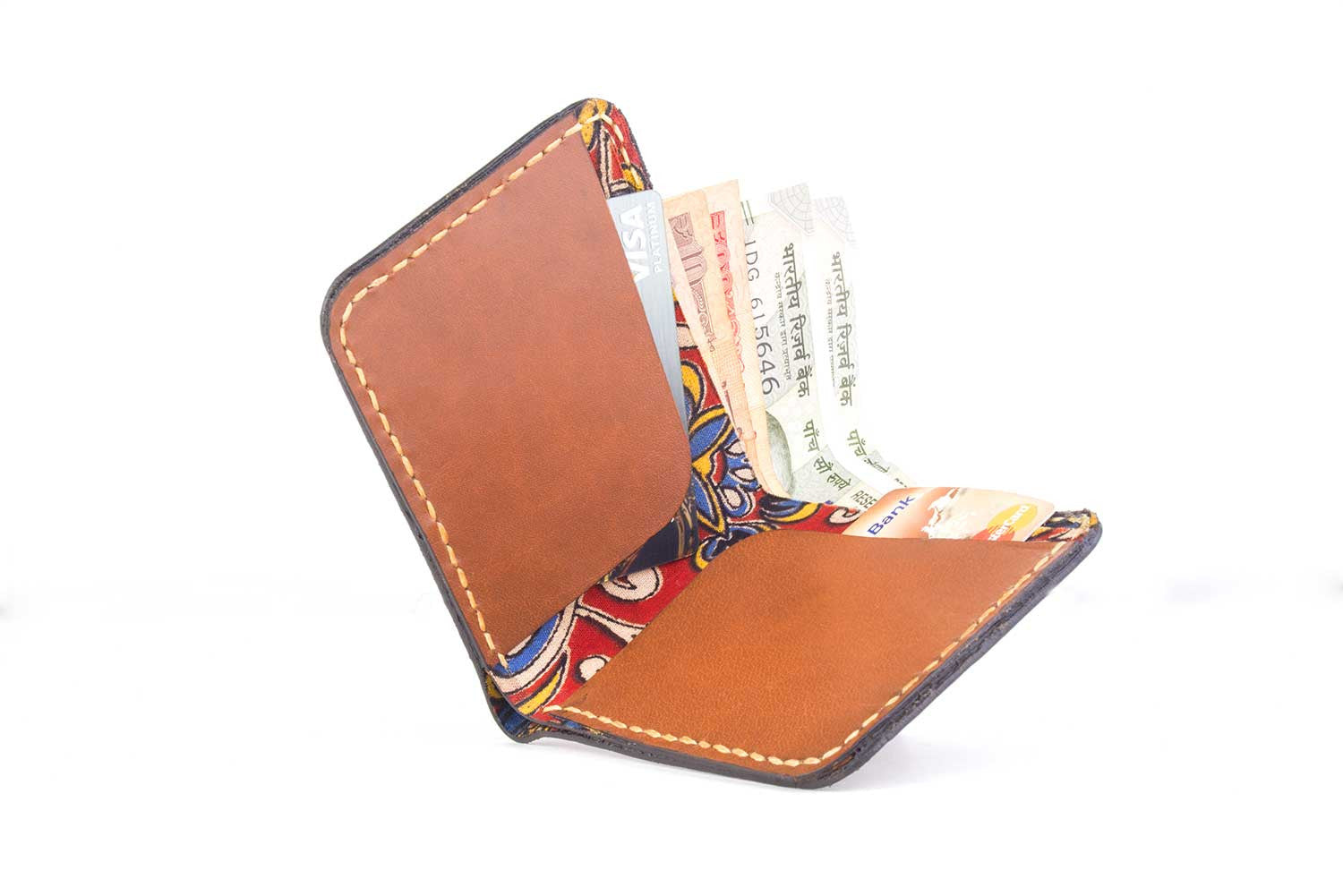 Men's wallet - Kalamkari - Two Horns