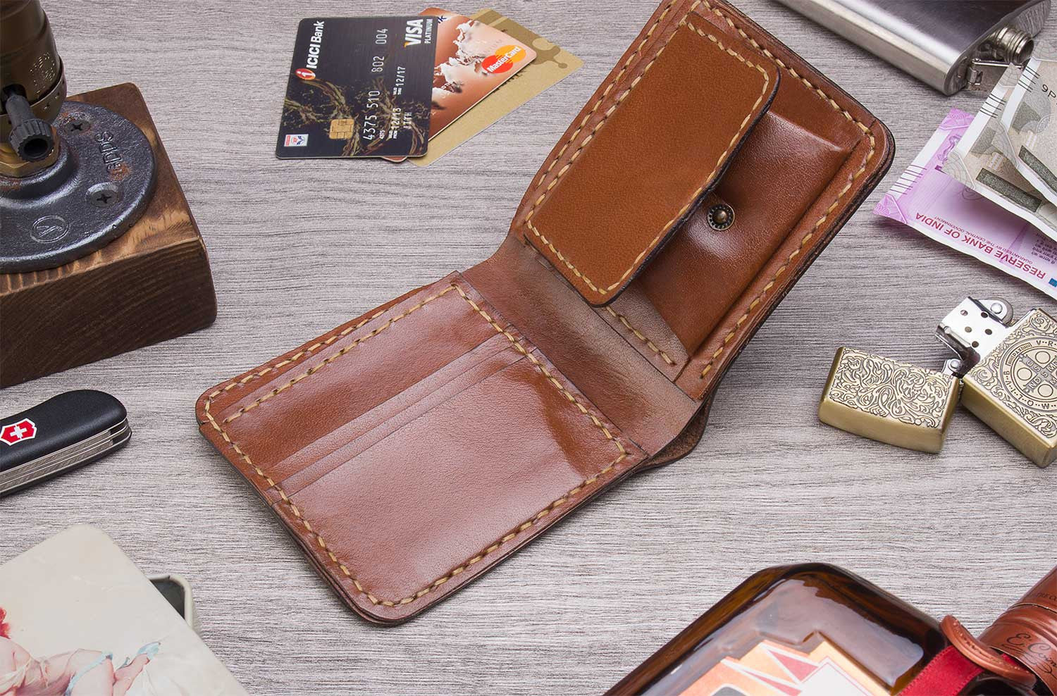 Gutsy Men's wallet - Brown - Two Horns