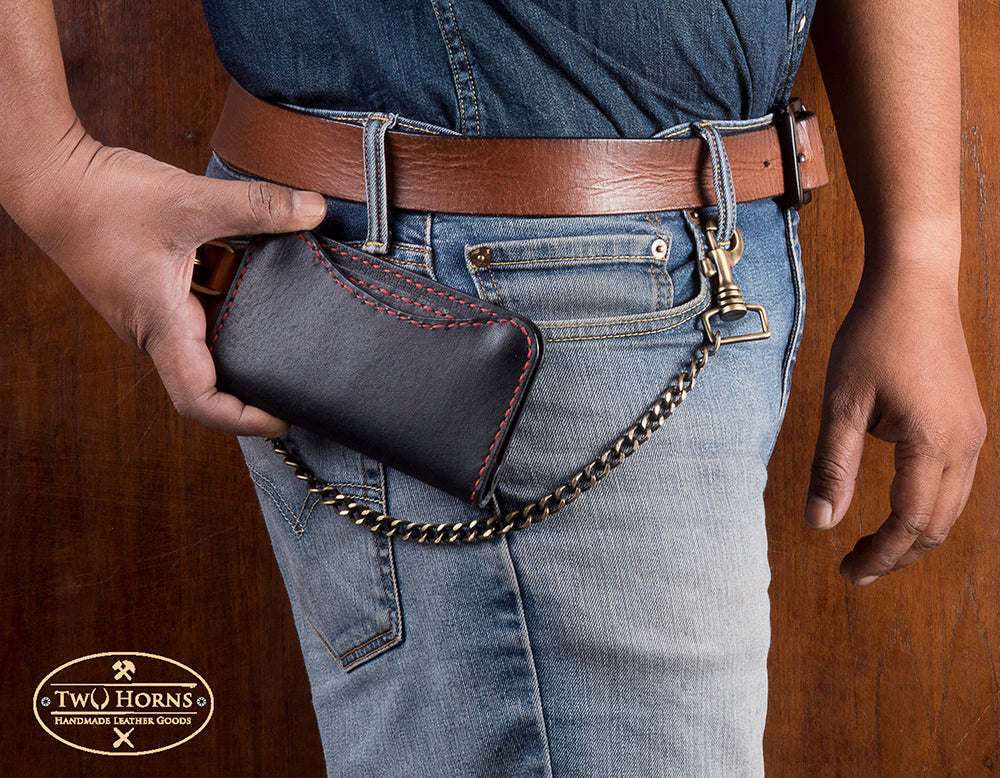 Biker Wallet - Black - Two Horns