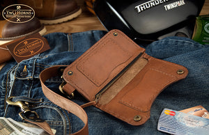 Biker Wallet - Brown - Two Horns