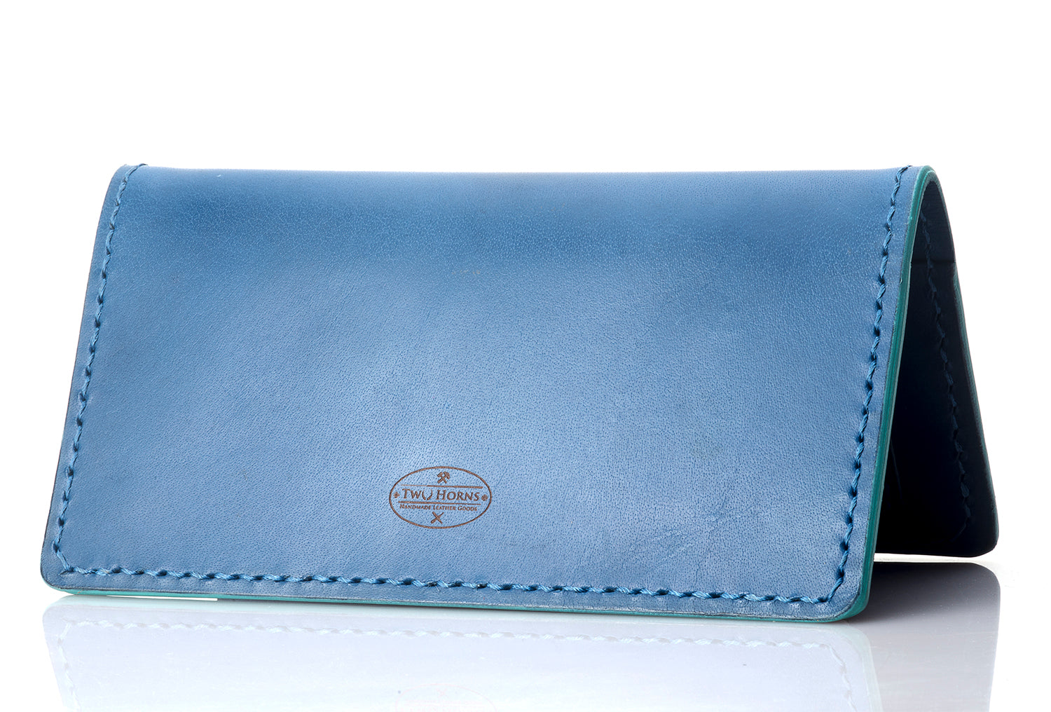 Fly-Hi passport case - Blue - Two Horns