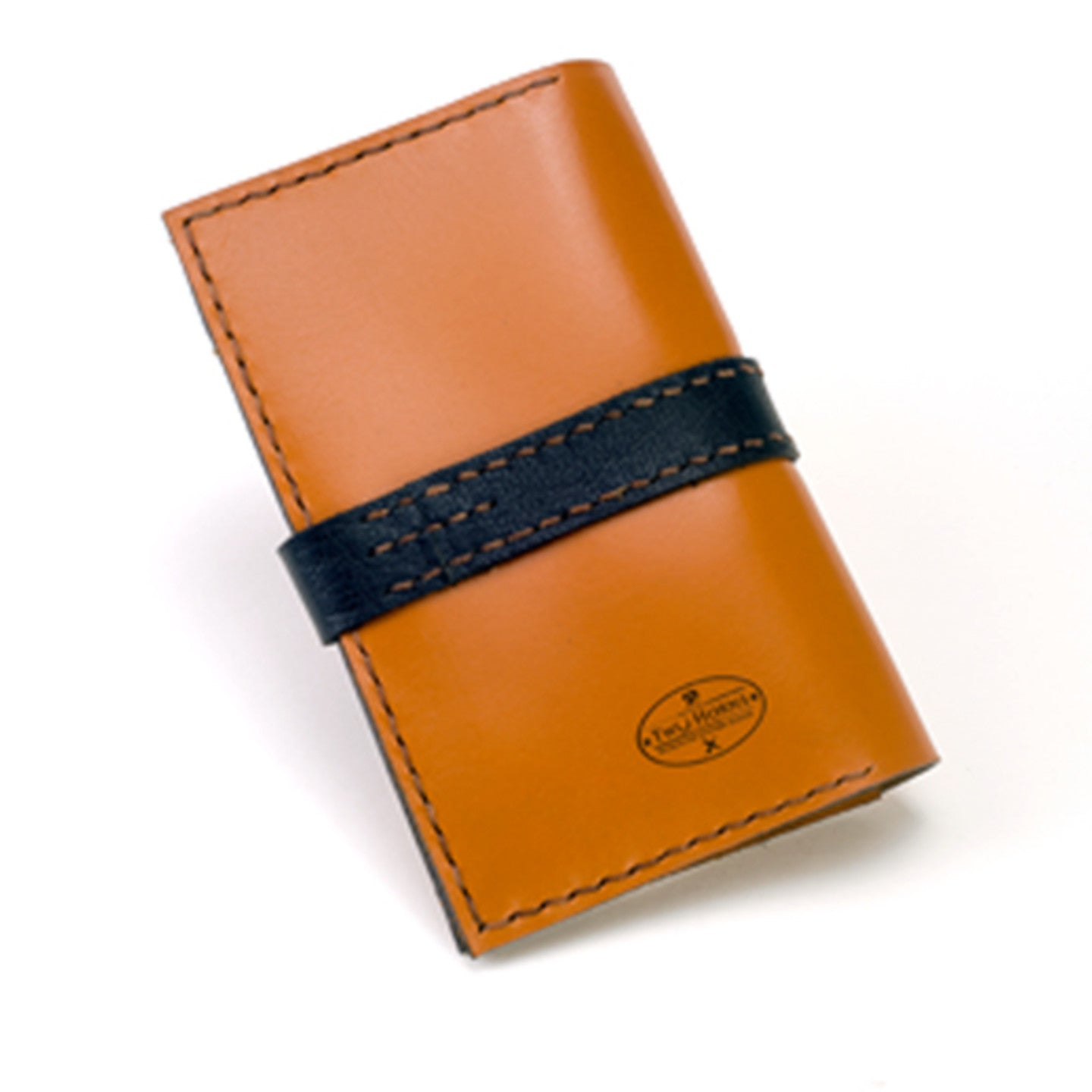 Passport case with pen holder - Two Horns