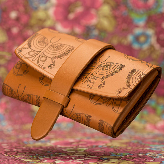 #Wallet - Butterfly engraved cute women's wallet - Two Horns