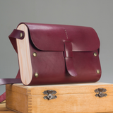 Leather & Wood purse