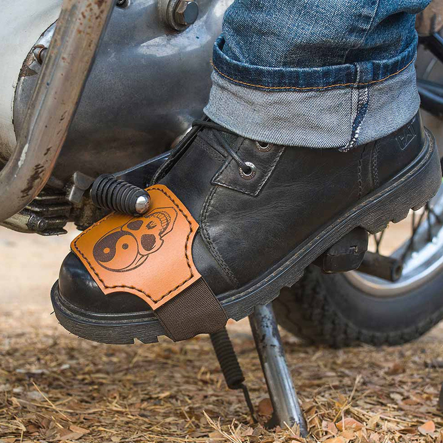 Biker Collection - Boot protector Strap - Two Horns