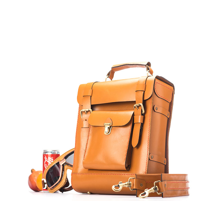 Safari Backpack - Tan - Two Horns