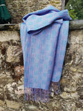 Blues & Pinks - silk scarf