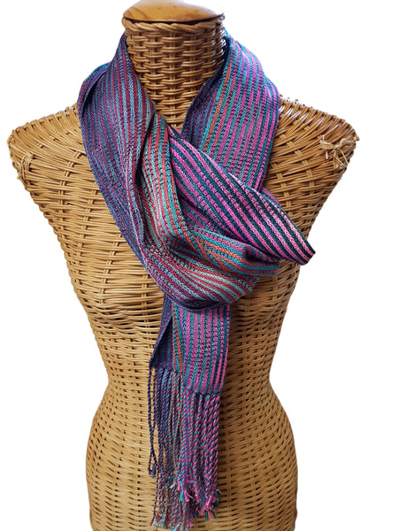 Silk & Cashmere Colourful Scarf