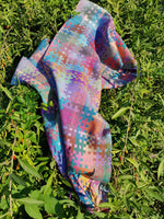 Summer Nights - Silk geometric scarf, handwoven