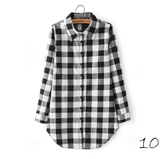 Boyfriend Shirt in Check (10 Colors) - TakeClothe - 11