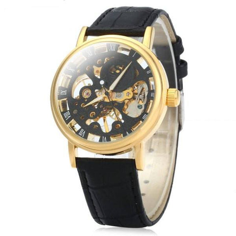 Mechanical Watch with Leather Band (2 Colors) - TakeClothe - 1