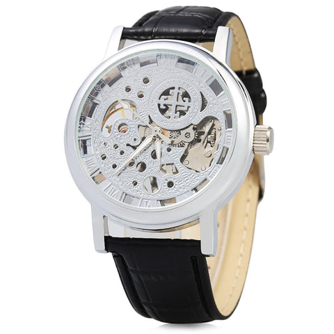 Mechanical Watch with Leather Band - TakeClothe - 1