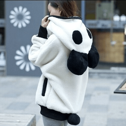 Oversized Panda Hoodie (2 Colors) - TakeClothe - 1