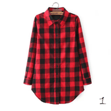 Boyfriend Shirt in Check (10 Colors) - TakeClothe - 2