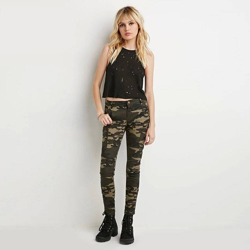 Camo Print Skinny Jeans - TakeClothe - 1