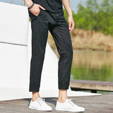 Pants In Slim Fit Black - TakeClothe - 3